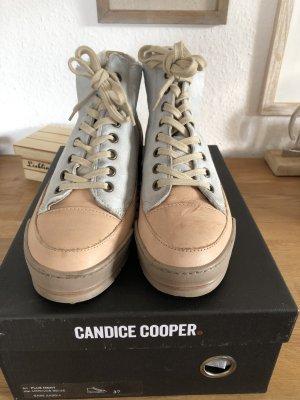 Candice Cooper Sneakers met hak babyblauw