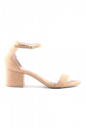 Candies Riemchenpumps creme Business-Look