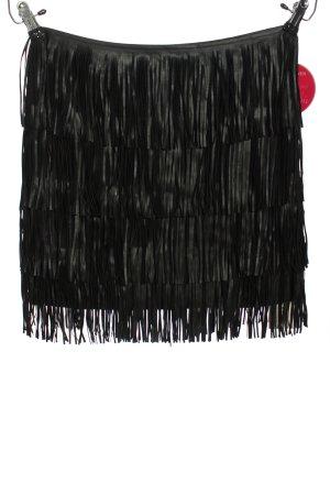 Cannery Row Vintage Jupe à franges noir style décontracté