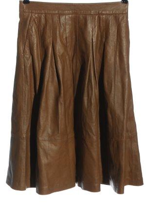 Cannery Row Vintage Skórzana spódnica brązowy W stylu casual
