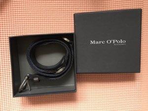 Marc O'Polo Canvas Belt dark blue-silver-colored