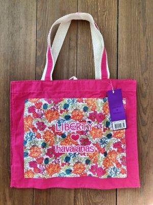 Canvas Shopper Tasche Liberty Havaianas * neu mit Etikett! * bunt