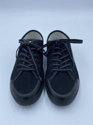 Rag & bone Lace-Up Sneaker black-white cotton