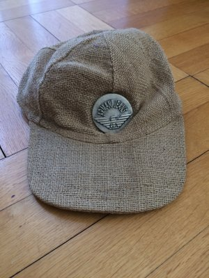 Armani Jeans Baseball Cap grey brown ramie