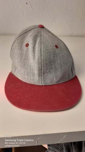 (+) people Beret light grey-red