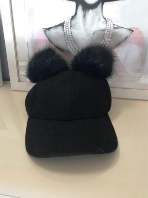 Miss Selfridge Fur Hat black