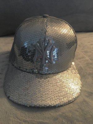 Cap Silber grau NY