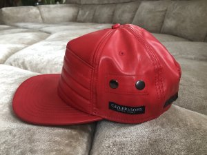 Cayler & Sons Baseball Cap bright red imitation leather