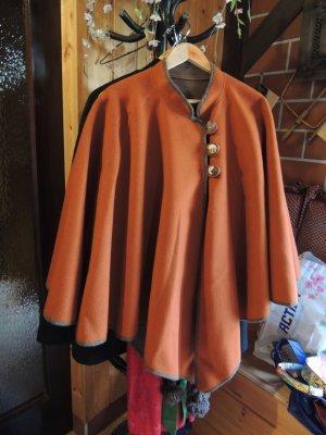 Folkloristische jas roodbruin Wol