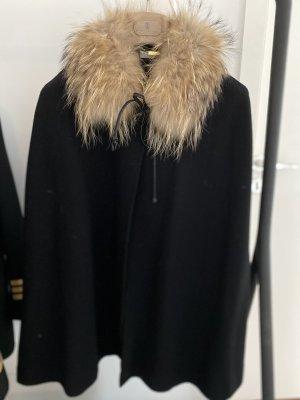 Donna by hallhuber Wełniany płaszcz czarny-camel