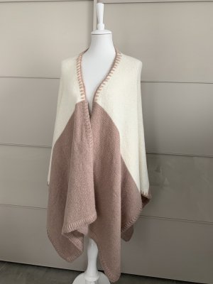 Juvia Poncho bianco sporco-rosa antico