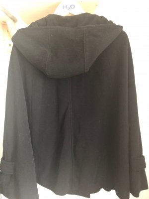 red label Hooded Coat black wool