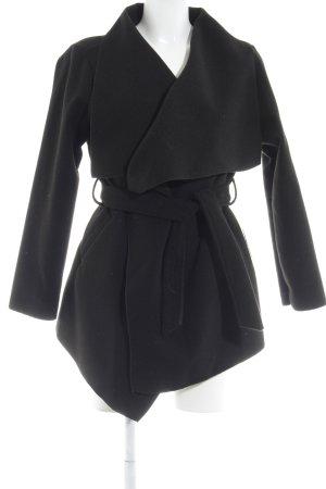 Wraparound Jacket black casual look