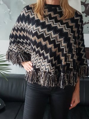 Missoni Capa negro-marrón arena