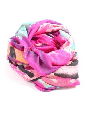 Capelli Snood roze-bruin volledige print casual uitstraling