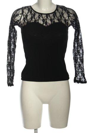 CAPEZIO Long Sleeve Blouse black elegant
