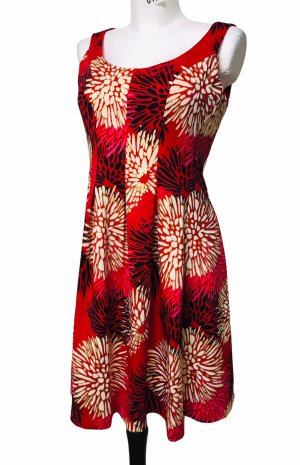 Cappagallo Damen Kleid Rot Gold S