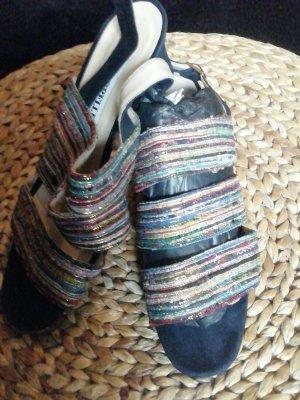 Cappellini Sandales à talons hauts et lanière multicolore