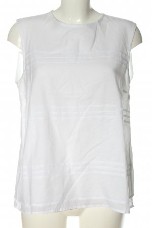 Cappellini Sleeveless Blouse white striped pattern casual look