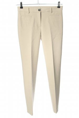 Cappellini Bundfaltenhose creme Business-Look