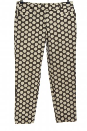 Cappellini Jersey Pants bronze-colored-cream spot pattern casual look