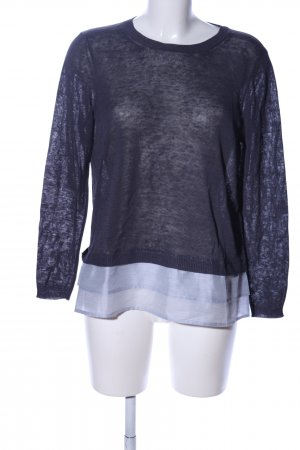 Cappellini Strickpullover blau meliert Business-Look