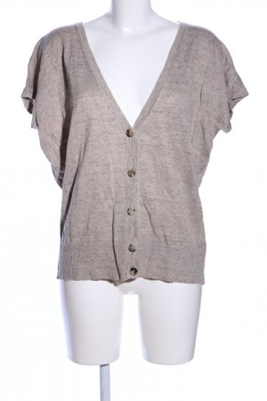 Cappellini Knitted Top brown-light grey flecked casual look