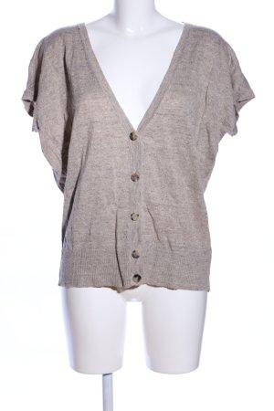 Cappellini Haut tricotés brun-gris clair moucheté style décontracté