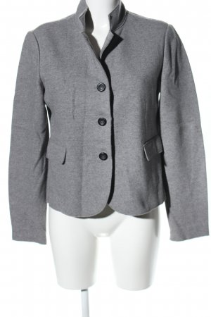 Cappellini Wolljacke hellgrau meliert Business-Look