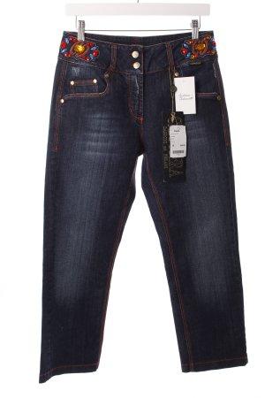 Cappopera 7/8 Jeans dunkelblau extravaganter Stil