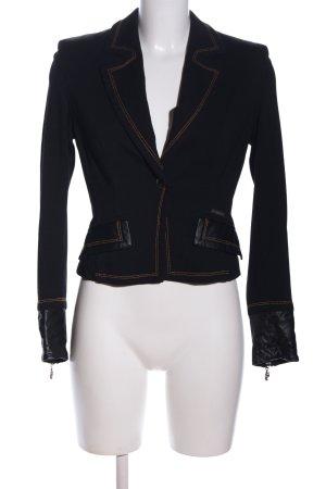 Cappopera Jersey Blazer black business style