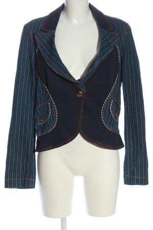 Cappopera Short Blazer blue striped pattern elegant