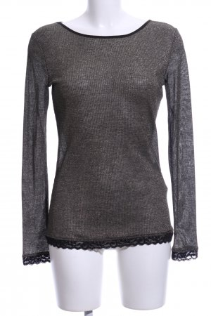 Cappopera Mesh Shirt black flecked casual look