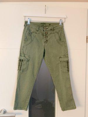 Cream Pantalone a 3/4 grigio-verde