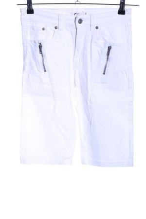 Capri Pantalon capri blanc style décontracté