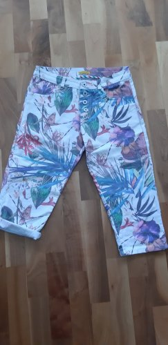 Chilli Pantalon capri multicolore coton