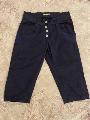 Pantalon capri bleu foncé