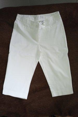 Alba Moda Pantalon 3/4 blanc coton
