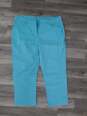 Pantalon capri bleu clair-turquoise