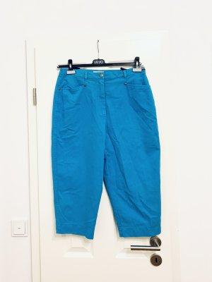. Capri- Hose, Jeans Shorts blau high waist, knielang v La Strada Gr. 44/ XXL