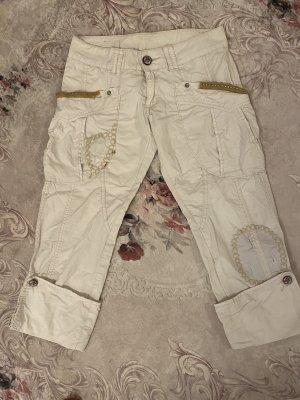 Pantalone Capri bianco sporco