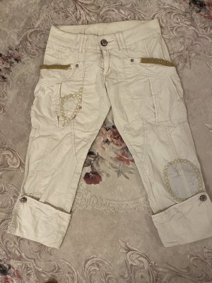 Pantalon capri blanc cassé