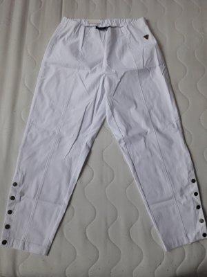 Pantalon capri blanc viscose