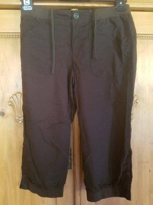 LOGG Spodnie 3/4 ciemnozielony Len