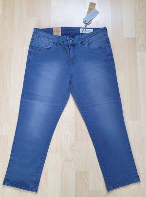 Capri-Jeans von Esprit * W 29 (38) * 3/4-Länge * blau * used-Style * Neu