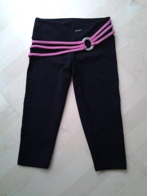Pantalon capri noir-rose