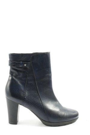 Caprice Absatz Stiefel schwarz-blau Animalmuster Casual-Look