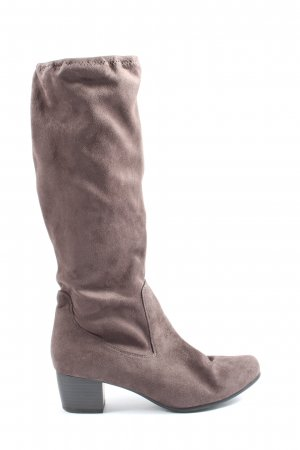 Caprice Heel Boots lilac casual look