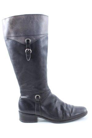 Caprice Absatz Stiefel schwarz-hellgrau Casual-Look