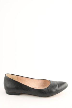 Caprice Ballerina's met kant zwart zakelijke stijl